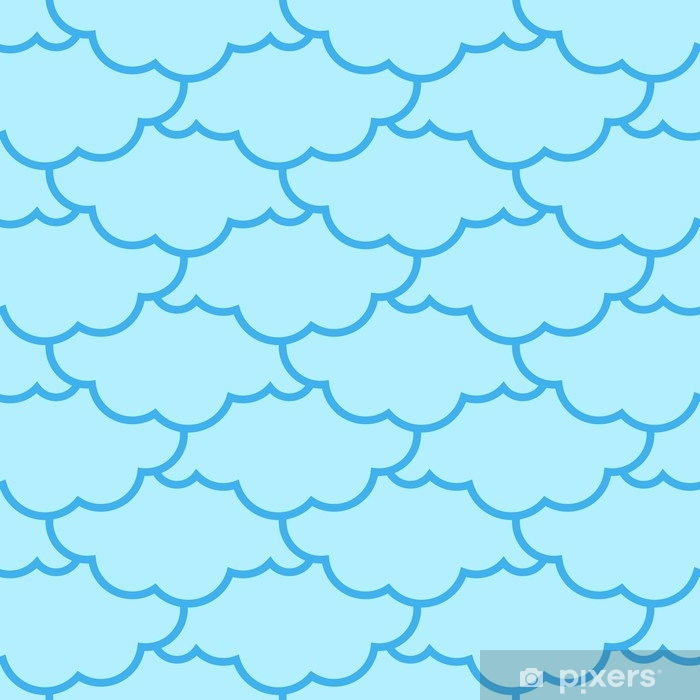 Clouds seamless pattern. Sky background. Retro Ornament for Cloth Vinyl Wall Mural - Graphic Resources