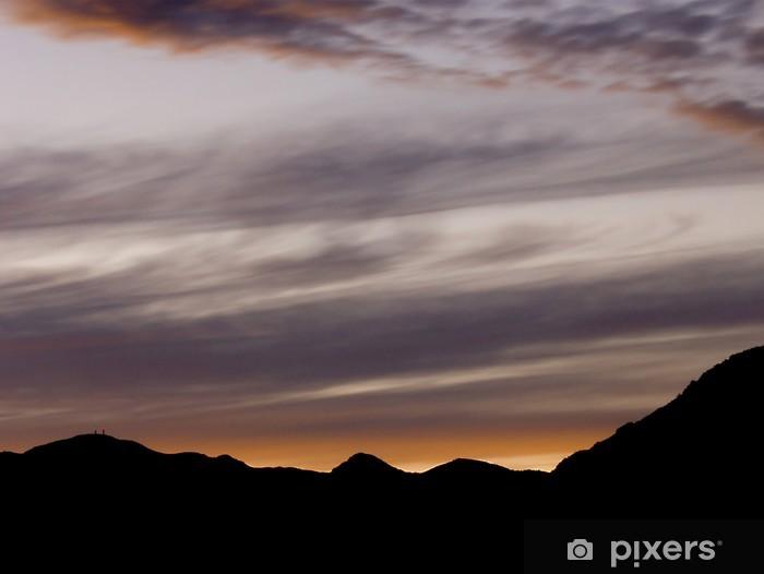 Fototapeta winylowa Zachód słońca na górze Toraro - Niebo