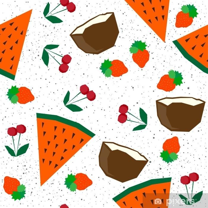 Aufkleber Sommerzeit Nahtlose Muster Hintergrund Abstrakte Kindische Handgemachte Anwendung Für Design Karte Party Einladung Urlaub Poster Menü