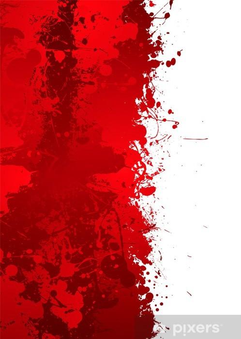 Sticker Pixerstick Splat de sang - Arrière plans