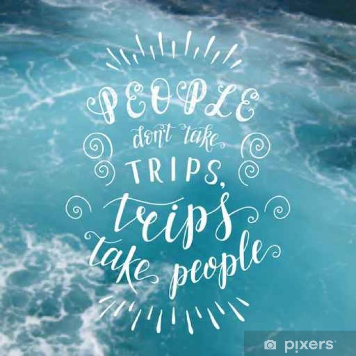 citater om havet Rejse. Vektor håndtegillustration til plakat med hånd  citater om havet