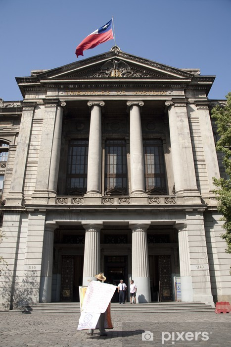 Vinilo Pixerstick Tribunal de justicia de Santiago de Chile. - América