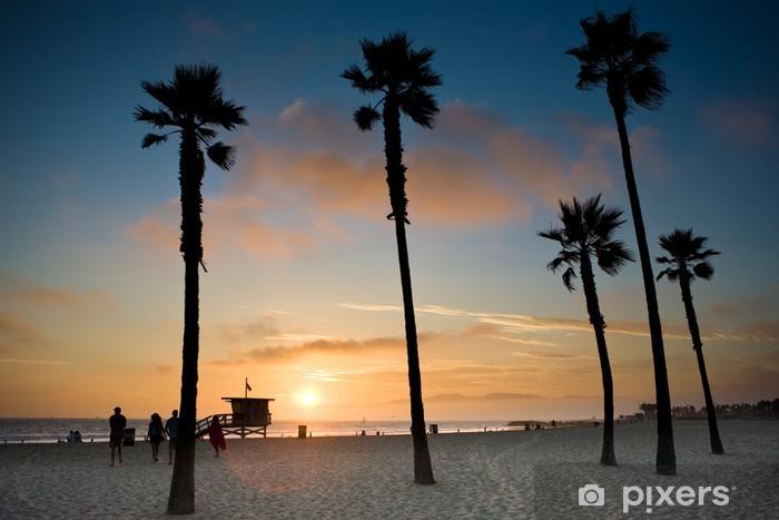 Sticker Pixerstick Coucher de soleil à Venice Beach, Los Angeles - Thèmes