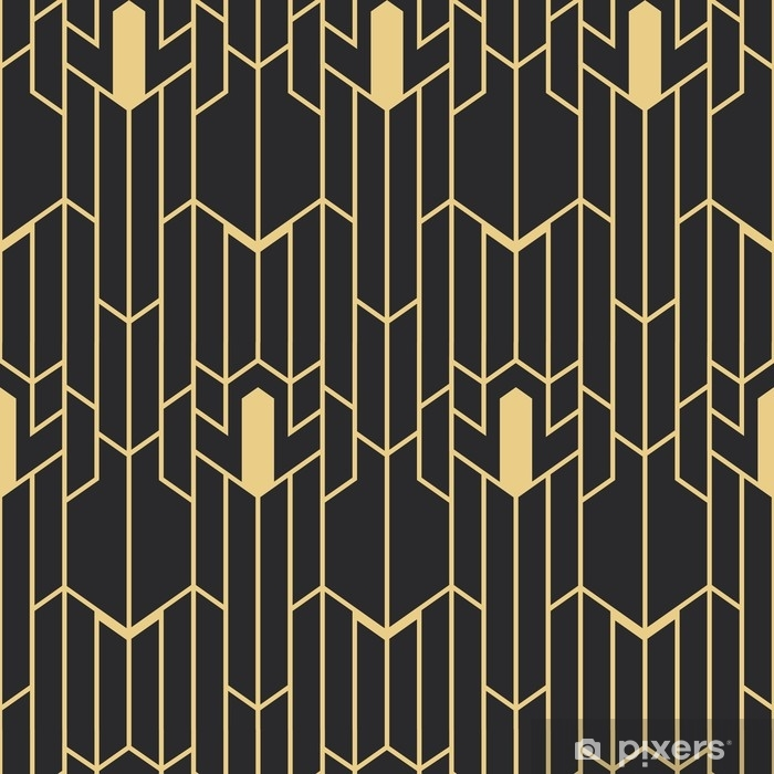 Art Deco Seamless Pattern Poster Pixers We Live To Change 0