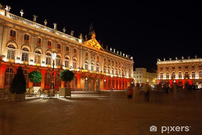 Papier peint vinyle La Place Stanislas de Nancy la nuit - Vacances
