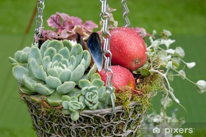 Fotomural Estándar Otoñal Decorational cesta colgante - Casa y jardín