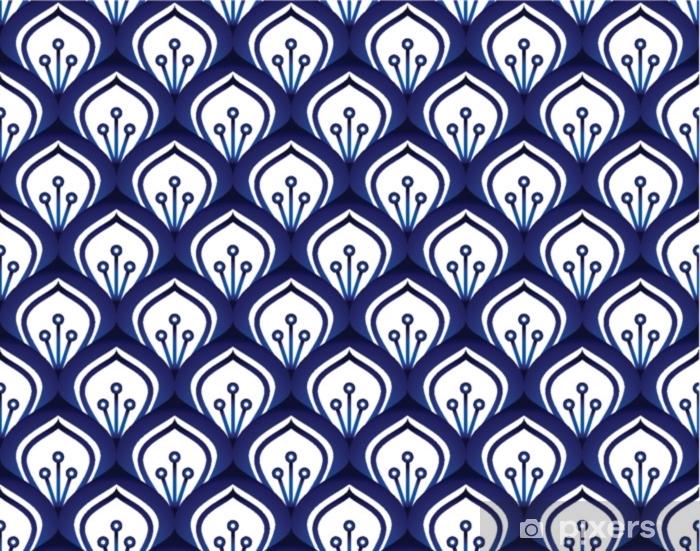 Porcelain pattern seamless Plush Blanket - Graphic Resources