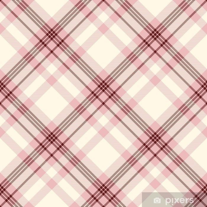 Vinyl Fotobehang Naadloze tartan geruite patroon. traditionele geruite textuur in roze, crème en donkerrood. - Grafische Bronnen