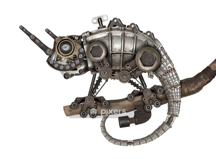 Naklejka na ścianę Jaszczurka w stylu steampunk - Zwierzęta