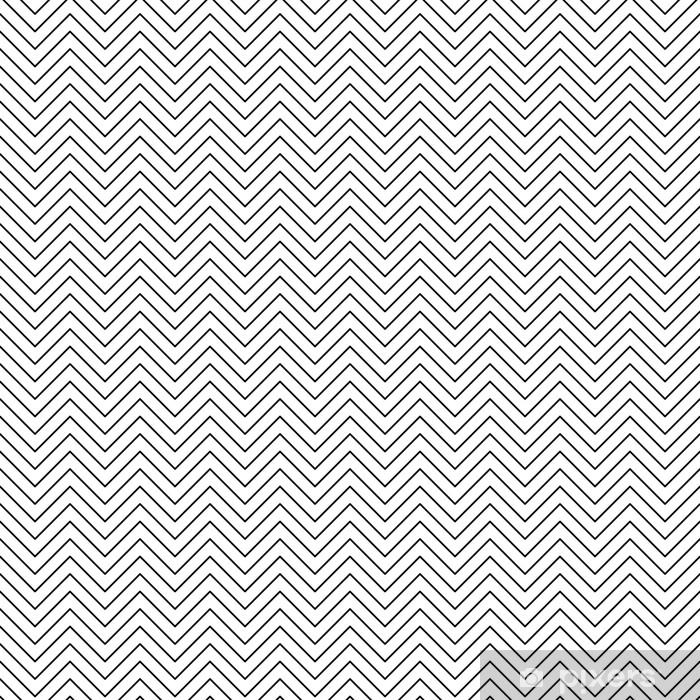 Vector seamless zigzag pattern. Chevron line texture. Black-and-white background. Monochrome minimal design. Vector EPS10 Pixerstick Sticker - Graphic Resources