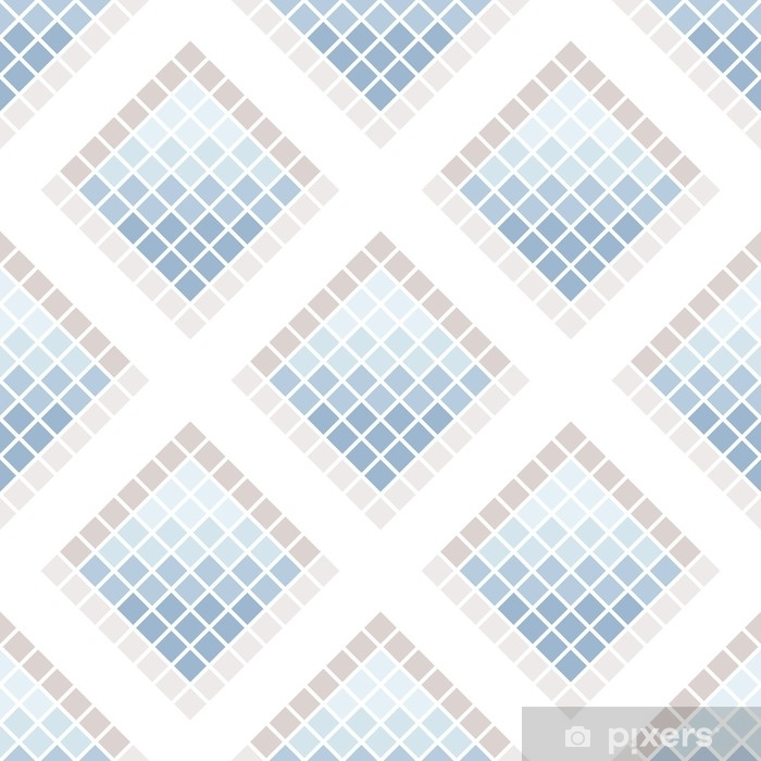 Abstract seamless pattern of squares. Ceramic tiles. Vinyl Wall Mural - Graphic Resources