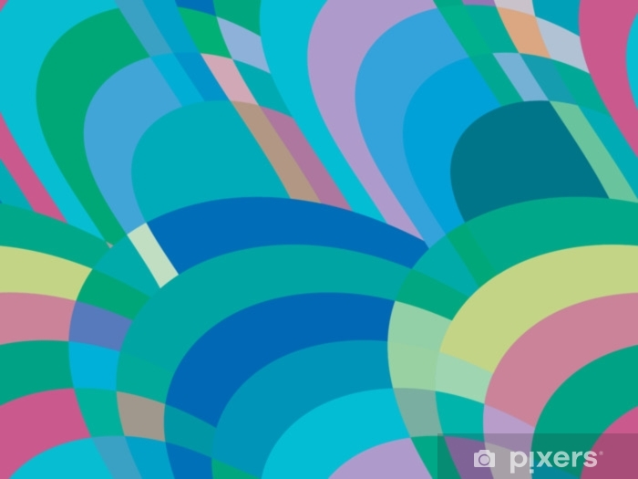 Mosaic seamless pattern. Abstract background of retro color. Vector illustration Self-Adhesive Wall Mural - Graphic Resources
