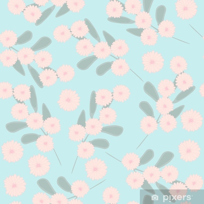 Vinyl Fotobehang Naadloze patroon met schattige eenvoudige bloemen. delicate bloemen. bloemenornament voor textiel, behang, verpakking. - Bloemen en Planten