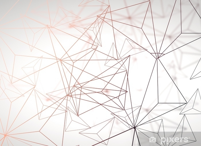 Pixerstick-klistremerke Lys polygonal bakgrunn - Grafiske Ressurser