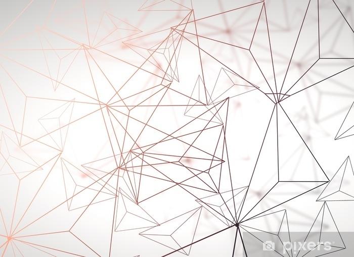 Sticker Pixerstick Fond polygonale clair - Ressources graphiques