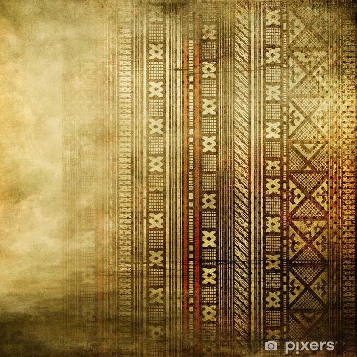 Poster Fond doré vintage avec ornement africain - Styles