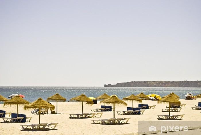 Vinylová fototapeta Pláž s deštníky - Vinylová fototapeta