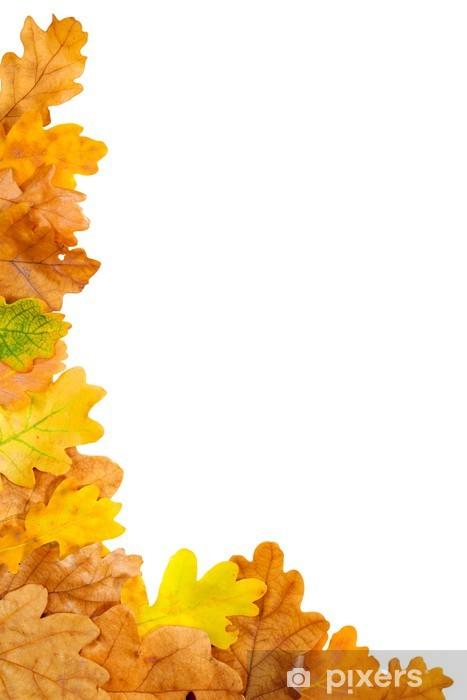 Nálepka Pixerstick Podzimní dubový list rám - Roční období