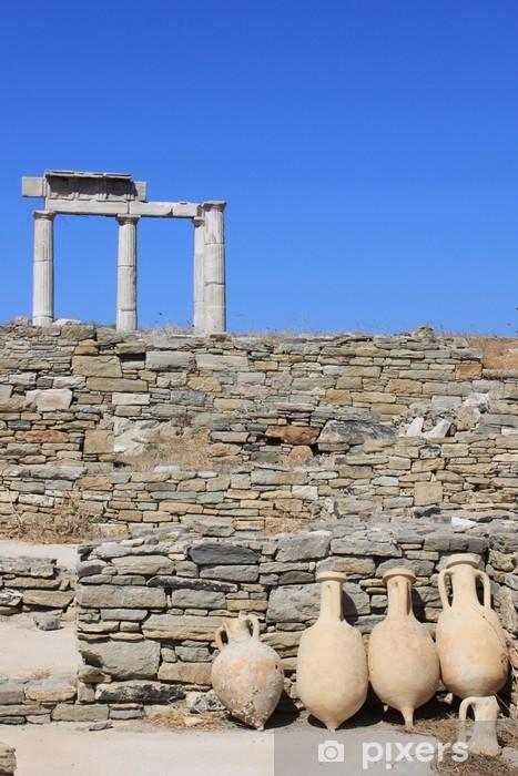 Vinylová fototapeta ETABLISSEMENT des poséidoniastes à Delos - Kyklady - Grèce - Vinylová fototapeta