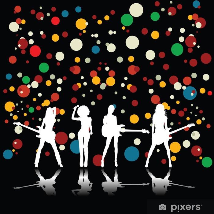 Naklejka Pixerstick Zespół Dziewczyny - Tła