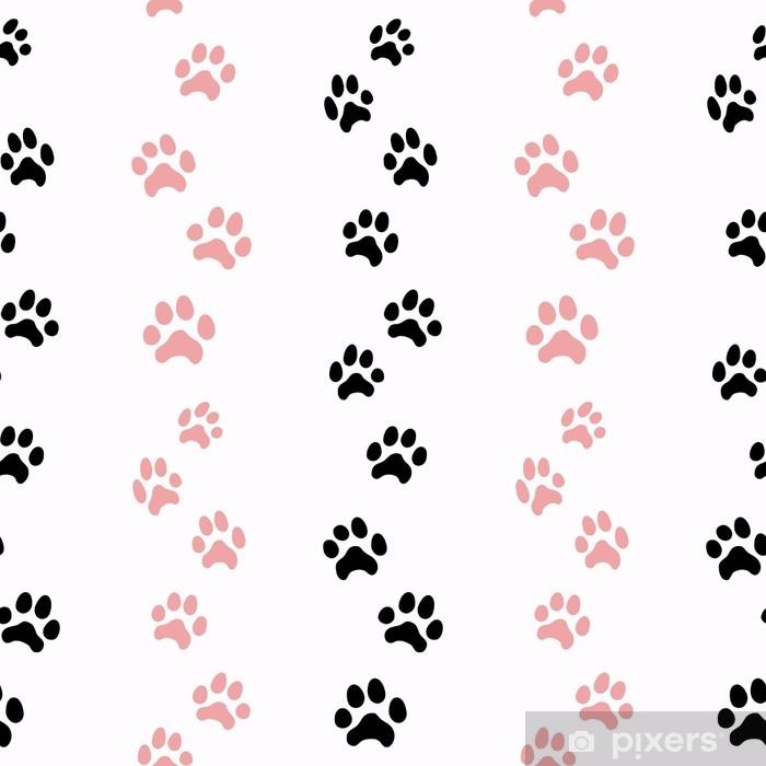 Poster Muster mit Katzenspuren - Grafische Elemente