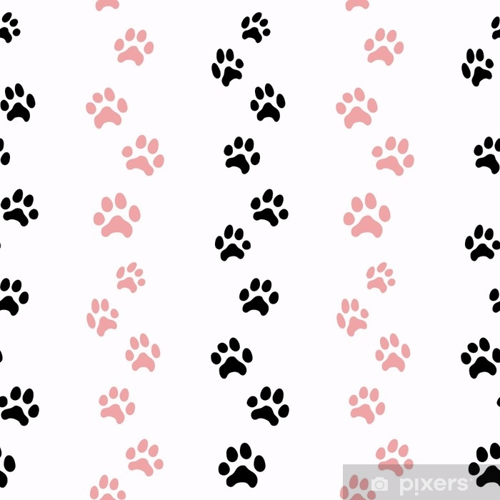 pattern with cat traces Poster - Graphic Resources
