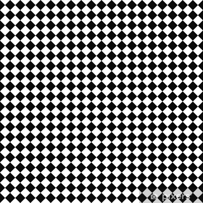 Vector seamless checker pattern. Geometric texture. Black-and-white background. Monochrome design. Vector EPS10 Pixerstick Sticker - Graphic Resources