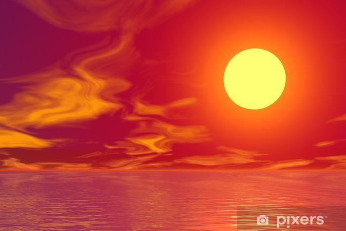Papier peint vinyle Golden Sunset - Signes et symboles
