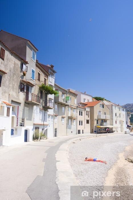 Vinyl-Fototapete Damm in Baska, Kroatien - Europa