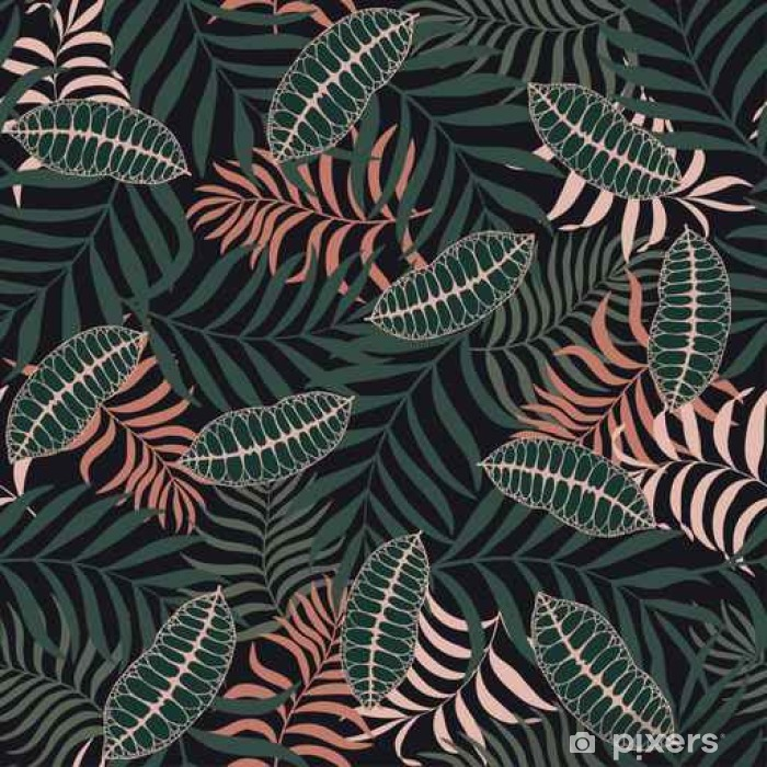 Tropical Background With Palm Leaves Seamless Floral Pattern Wall Mural Pixers We Live To Change Over 513,403 tropical pictures to choose from, with no signup needed. tropical background with palm leaves seamless floral pattern wall mural pixers we live to change