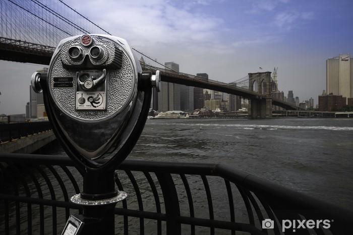 Pixerstick Sticker Brooklyn Bridge, New York - Amerikaanse steden