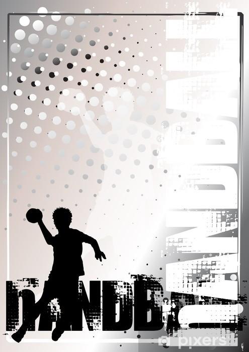 Håndball gylden plakat bakgrunn 3