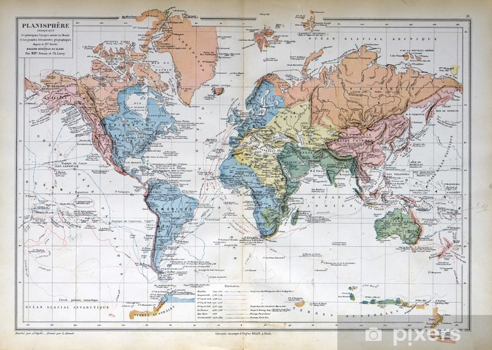 Vanha Kartta Vuodelta 1883 Maailman Kartta Tapetti Pixers