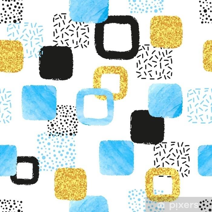 ac3557493c813 Fotomural Estándar Sin patrón con cuadrados azules