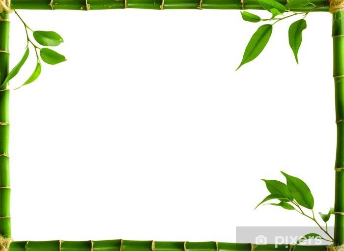 Sticker Pixerstick Cadre en bambou - Merveilles naturelles