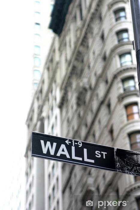 Vinilo Pixerstick Wall Street sign - Temas