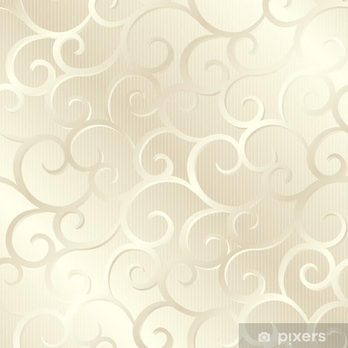 Vinyl Fotobehang Silver beige glanzende spiralen textuur, patroon; vector illustratie - Thema's