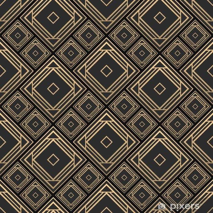 papier peint mod le sans couture dans le style art d co carrelage noir et dor carreaux de. Black Bedroom Furniture Sets. Home Design Ideas
