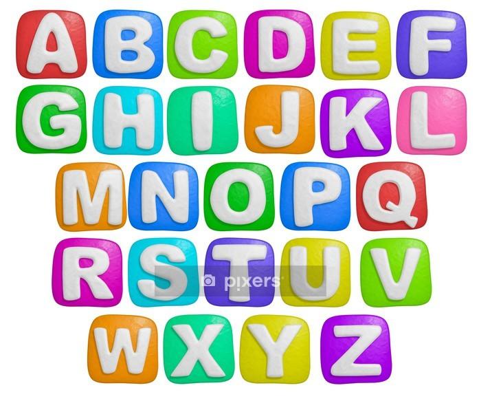 Vinilo para Pared Alfabeto - Temas