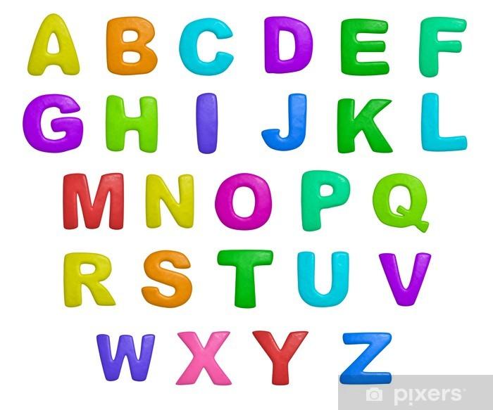 Naklejka Pixerstick Alfabet - Tematy