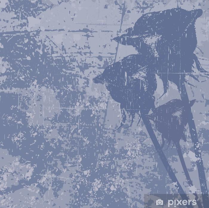 Vinyl Fotobehang Grunge vector achtergrond met rozen - Thema's