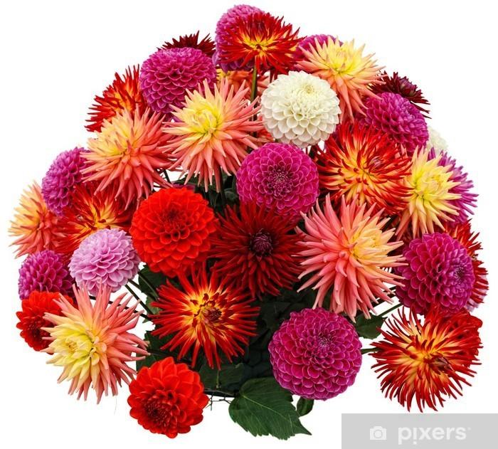 Plakat Ikiebana chryzantemy i dalii - Kwiaty