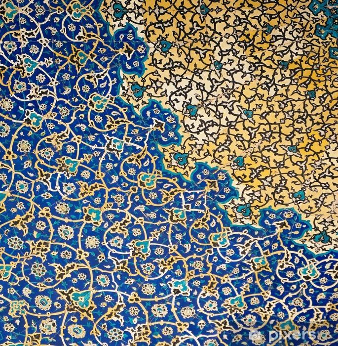 Fototapet av vinyl Koke av moskeen, orientalske ornamenter fra Isfahan, Iran -