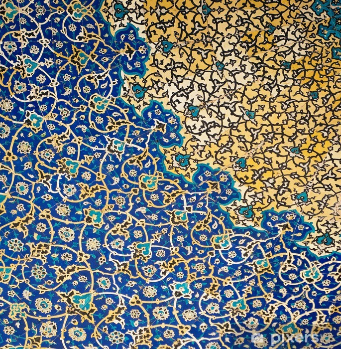 Dome of the mosque, oriental ornaments from Isfahan, Iran Pixerstick Sticker - Styles