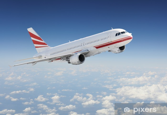 Vinyl-Fototapete Flugzeug in den Himmel - Luftverkehr