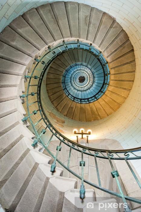 Fototapeta winylowa Piękne schody latarnia -