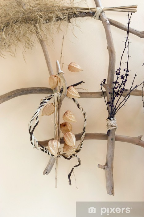 Decoration With Dry Plants Vinyl Wall Mural Home And Garden