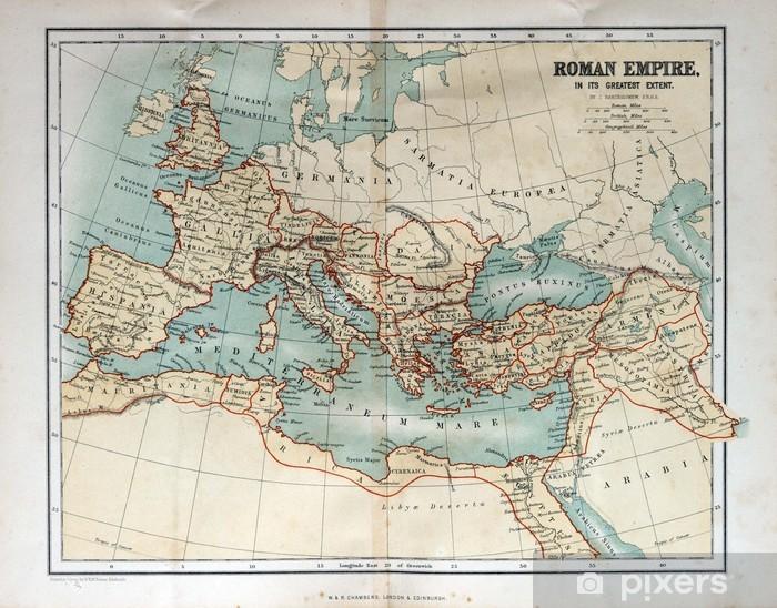Pixerstick Sticker Oude kaart van het Romeinse Rijk, 1870 - Thema's