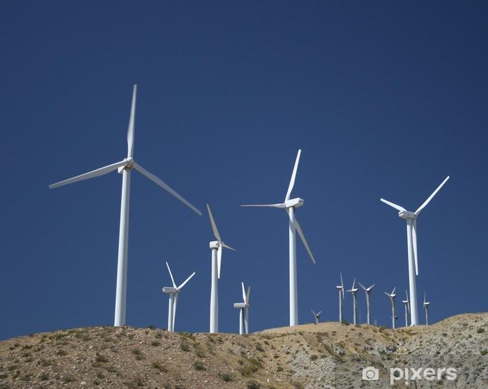 Nálepka Pixerstick Větrné mlýny v poušti - Pouště
