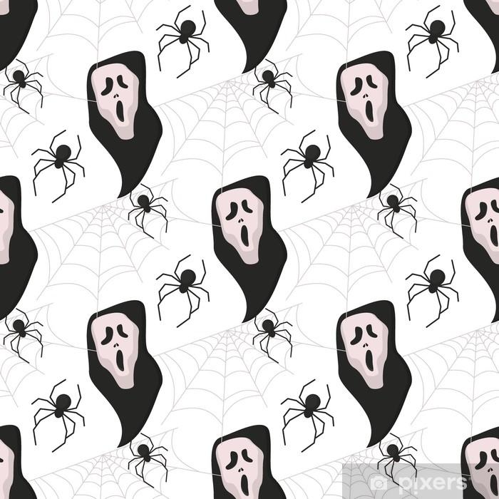 Papier Peint Halloween Modèle Sans Couture Vecteur Fond Vacances Horreur Fond D écran Dessin Animé Spooky Automne Décoration Illustration